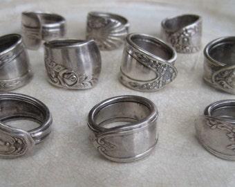 Vintage spoon rings - sterling silver - choose one