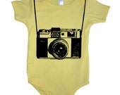 Vintage Camera Funny Baby Vacation Bodysuit Funny Tees Boy Girl Camera Shirt Gift Idea For Shower Newborn Toddler One Piece Photography