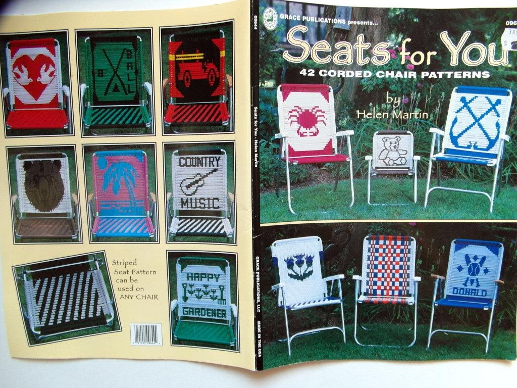 Macrame Lawn Chair Patterns Tutorial Corded Lawn Chair Webbing