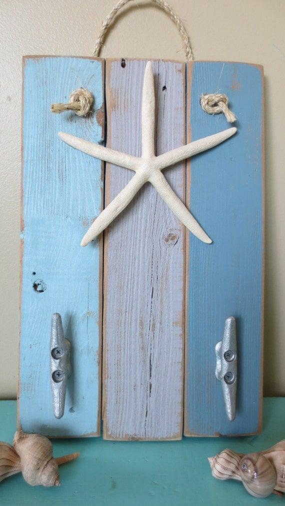 Items similar to beach decor starfish wall hanging dusty for Beachy decor items