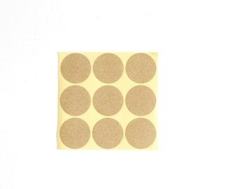 "81 1 3/8"" Kraft Circles Stickers, Blank Kraft Round Labels"