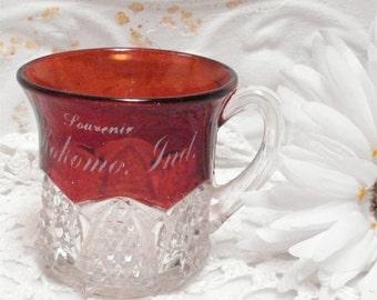 Kokomo Indiana Ruby Flash Souvenir Cup
