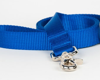 Crew LaLa™ Royal Blue Naked Webbing Dog Leash