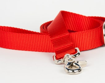 Crew LaLa™ Red Naked Webbing Dog Leash
