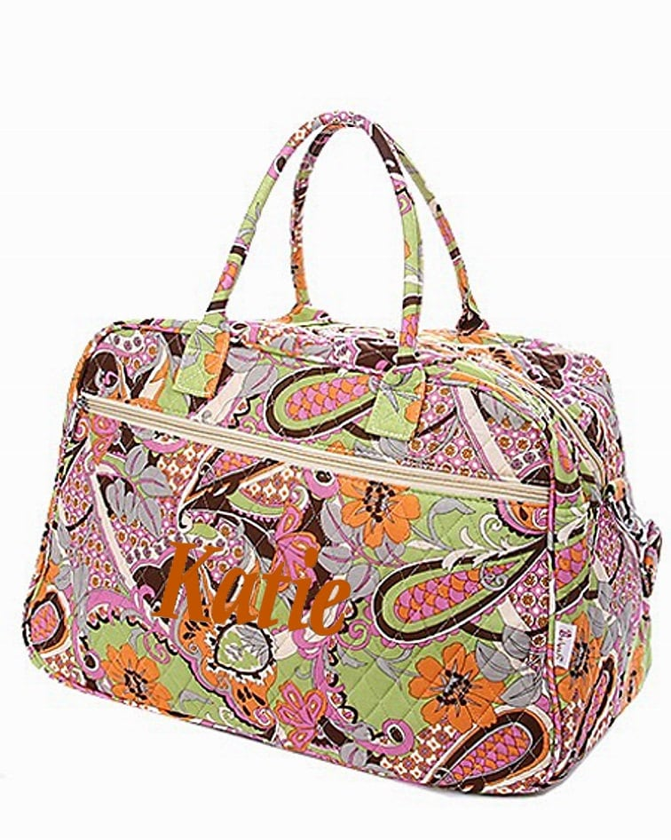 SALE Personalized Quilted Paisley U0026 Floral Duffel Bag Gym