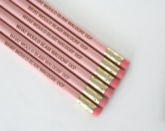 what would blair waldorf do 6 pencils in pastel pink.