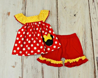 Minnie Mouse Outfit - Minnie Mouse Birthday Outfit - Girls Birthday Outfit - Disney Trip outfit