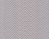 Organic Gray Chevron Fabric - Cosmic Convoy by Michéle Brummer Everett from Cloud 9 - 1 Yard