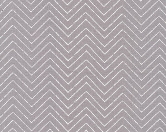 Organic Gray Chevron Fabric - Cosmic Convoy by Michéle Brummer Everett from Cloud 9 - 1 Yard