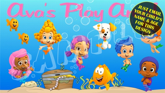 Bubble guppies personalized play room decor - Bubble guppies bedroom decor ...