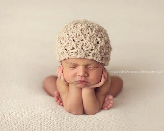 PDF Knitting Pattern - newborn photography_Ella beanie #106
