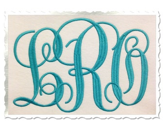 Large Fancy Monogram Machine Embroidery Font Alphabet - 3 Sizes