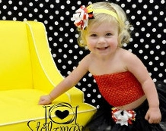 Red, Black & Yellow Baby Minnie Tutu Set