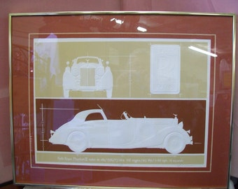 """Roy Williams """"Phantom III Rolls Royce"""" Serigraph Framed and Matted Signed"""