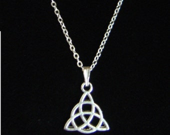 Triquetra Pendant Necklace with Chain