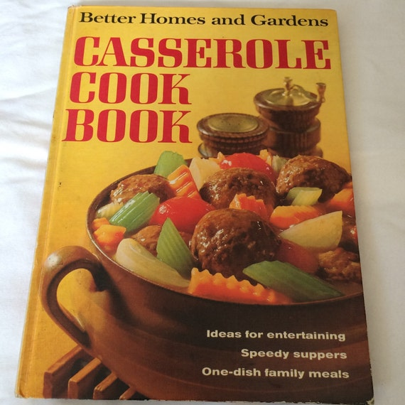 Vintage Cook Book Better Homes And Gardens Casserole Cookbook