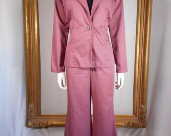 Vintage 1970's Wrangler Mauve Pant Suit - Size 12
