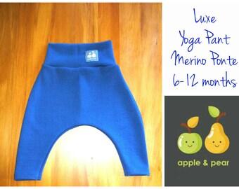 Merino yoga pants Regatta Blue  6-12 months Toddler Leggings Merino wool ponte wool