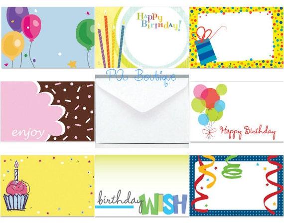 Ct happy birthday assortment florist blank enclosure cards