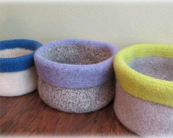 Crochet Basket Pattern - Easy Crochet Storage Basket Pattern - CROCHET PATTERN - Crochet Felted Basket - Crochet Patterns by Deborah O'Leary