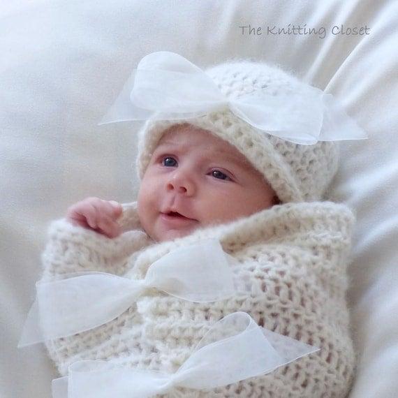 Newborn Photography Knitting Patterns : Crochet baby cocoon and hat pattern newborn photo prop