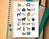 Dog Alphabet Greetings Card - birthday card for dog lover - dog birthday card - blank dog card - Alphabet of Dogs - animal lover card