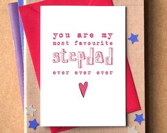 Favourite Stepdad Ever Ever Ever Card - Father's Day Card - birthday card for stepdad - stepdad card - Father's Day card for stepdad