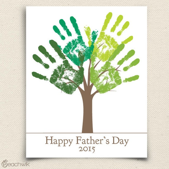 Fathers Day Last Minute Printable Gift - DIY Child's Handprint Tree - Printable pdf - Kid's craft project - Tree Art Project