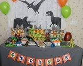 Dino Birthday Party Custom Name Banner