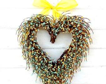 Valentines Door Wreath-Valentine Wreath-Wedding Wreath-Wedding Decor-Say I LOVE YOU-Gift for Mom-Wedding Gift-Heart Wreath-Valentines Decor