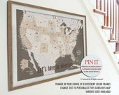 Push Pin Travel Maps, USA Detailed Map, Gift for Woman traveler, Map Gift for Parents, Push Pin Travel, America  home decor, Extra Large
