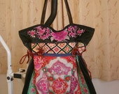 Tote -Tribal-Handmade Ethnic Hmong Bag B-003