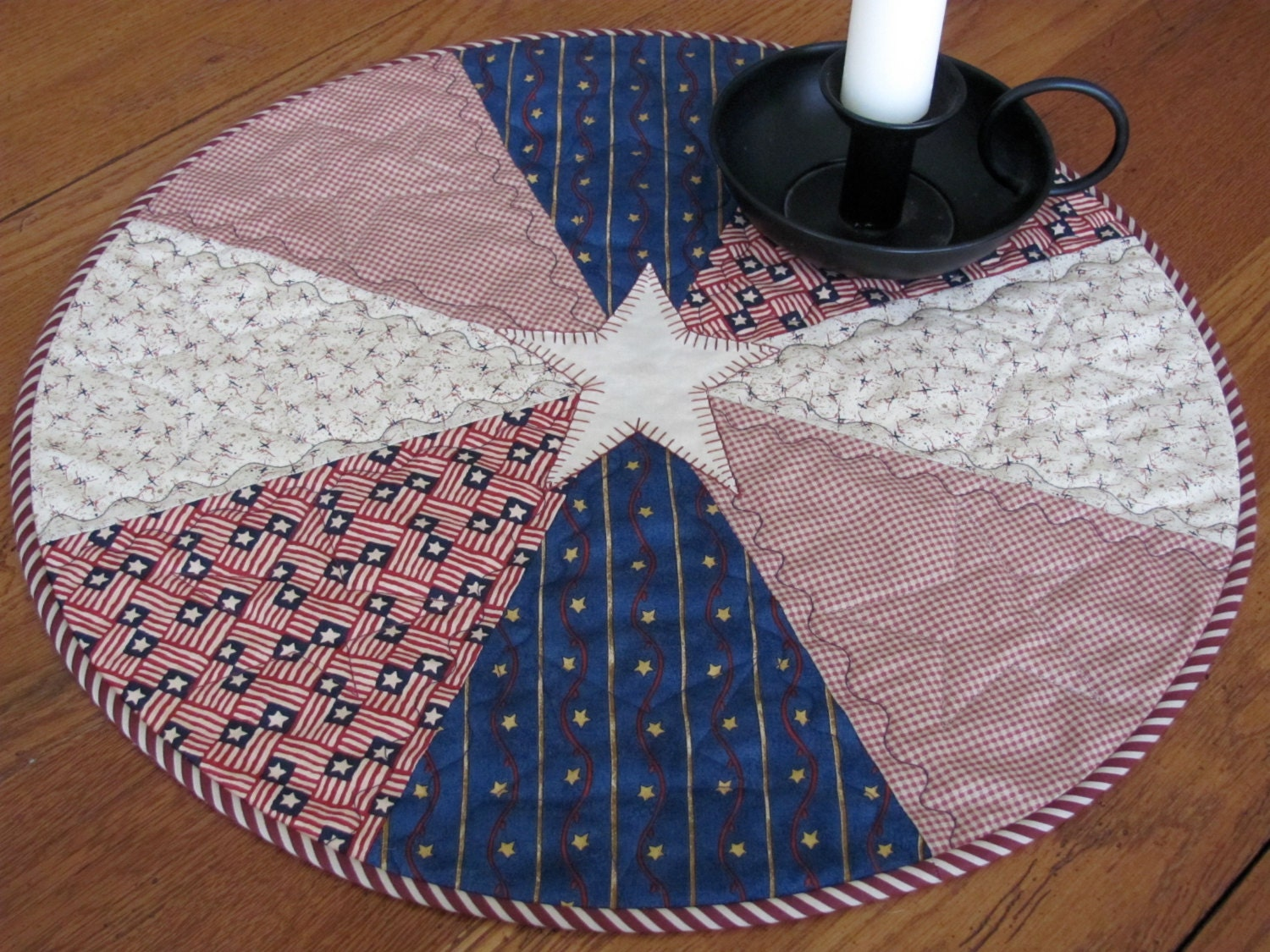how to make a round quilted table topper
