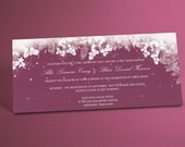 Winter Wonderland Wedding Invitations, Floral Frost Motif with Snowflakes, Elegant 9x4 Sized Winter Themed Invitations. You Choose the Color