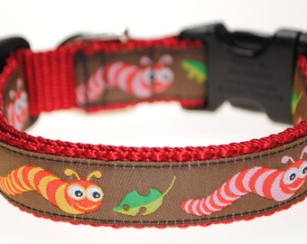 "Inchworms - 3/4"" Adjustable Dog Collar"