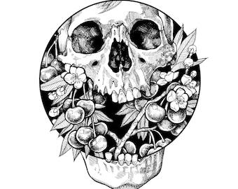 """Print of Original Drawing """"Pit"""""""