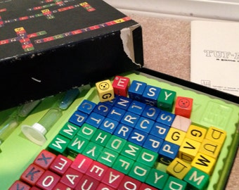 TUF ABET a game of words vintage woodedn cubed fast paced fun