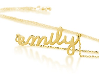 18K Gold Plated Personalized Name Necklace - Choose any name to personalize