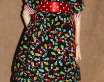 Christmas Holiday BJD doll dress outfit MSD Kaye Wiggs Dollstown