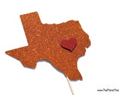 Photo Booth Props ~ Glitter Home State ~ Wedding Props ~ Graduation Props ~ You Choose Color and State