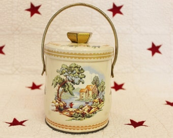 Vintage Tin With Handle Made In England
