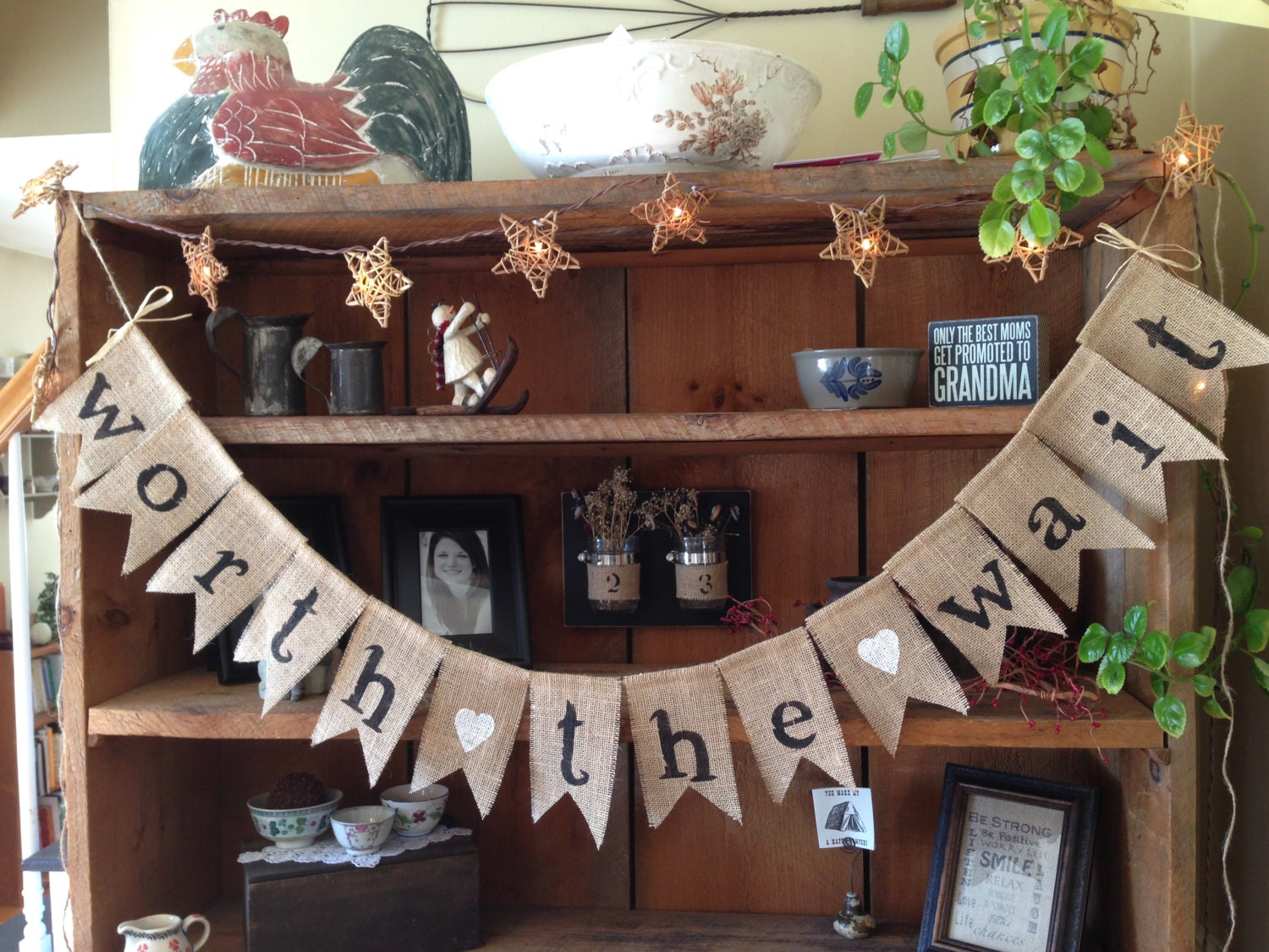 burlap baby banner baby shower decoration baby girl bunting