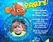 Personalize Finding Nemo Invitation, Nemo Pool Party, Nemo Beach Party Invite