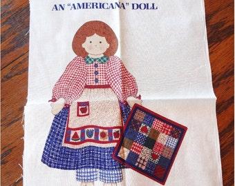 Cut and Sew Homespun Hannah An Americana Doll