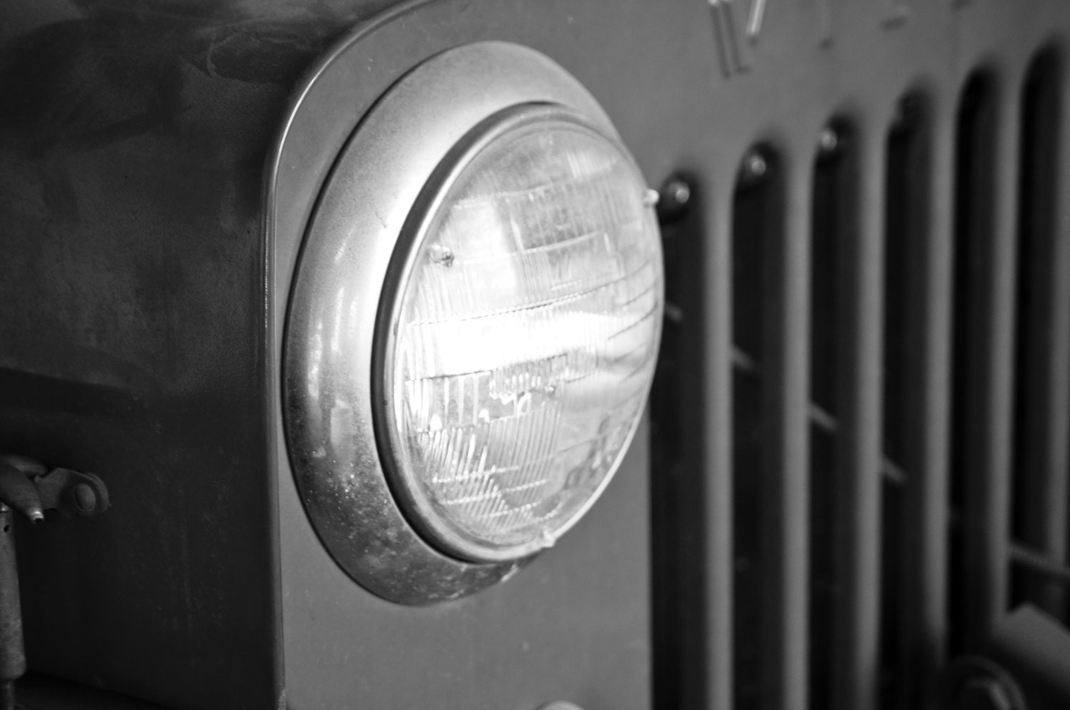 Old Jeep Night Headlights : Limited time photos vintage headlight of an old willys jeep