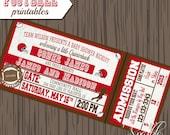 Football printable invitation, Sports invite, Football Birthday invitation, Football Birthday printable, Football Baby shower invite
