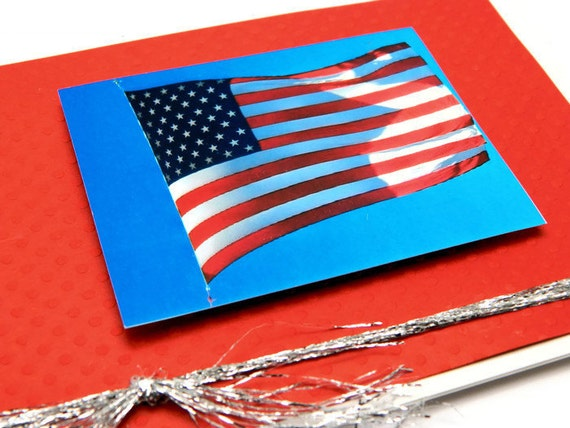 4th of July Card - Fourth of July Cards - Independence Day Card - American Flag Card