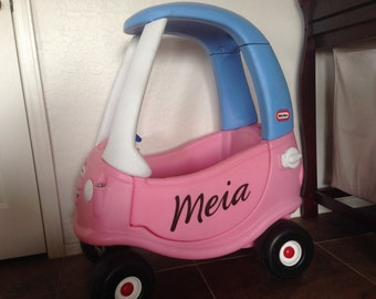 Cozy Coupe Personalized Name Decals