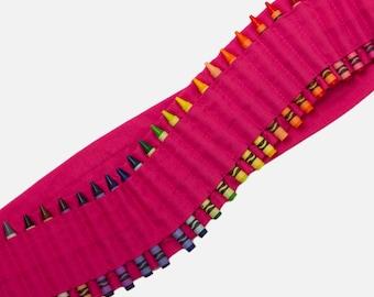 Kids Crayon Bandolier   Pink