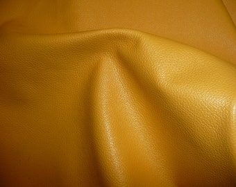 """Leather 8""""x10"""" LIGHT Mustard Yellow DIVINE line Top Grain Cowhide 2-2.5 oz /1-1.2mm  PeggySueAlso"""